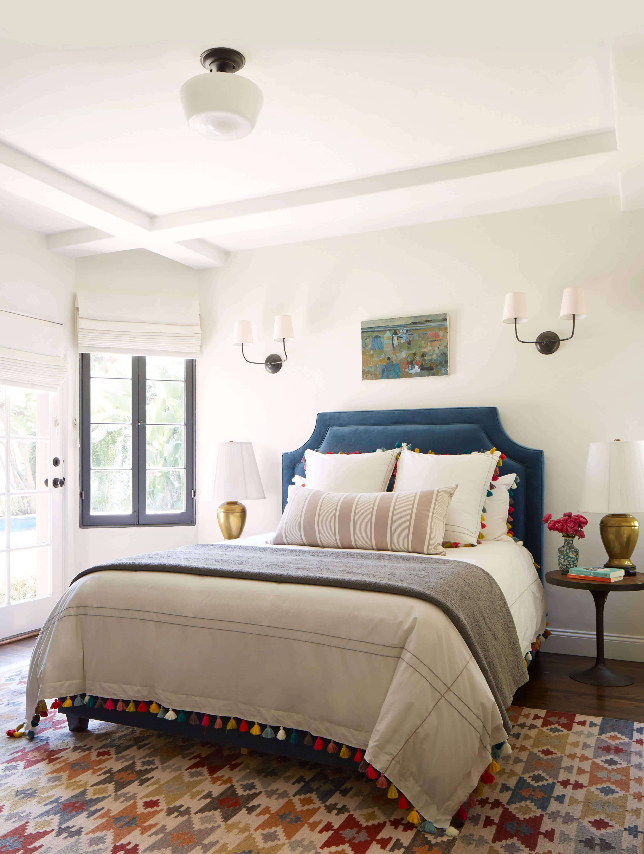 eclectic guest room