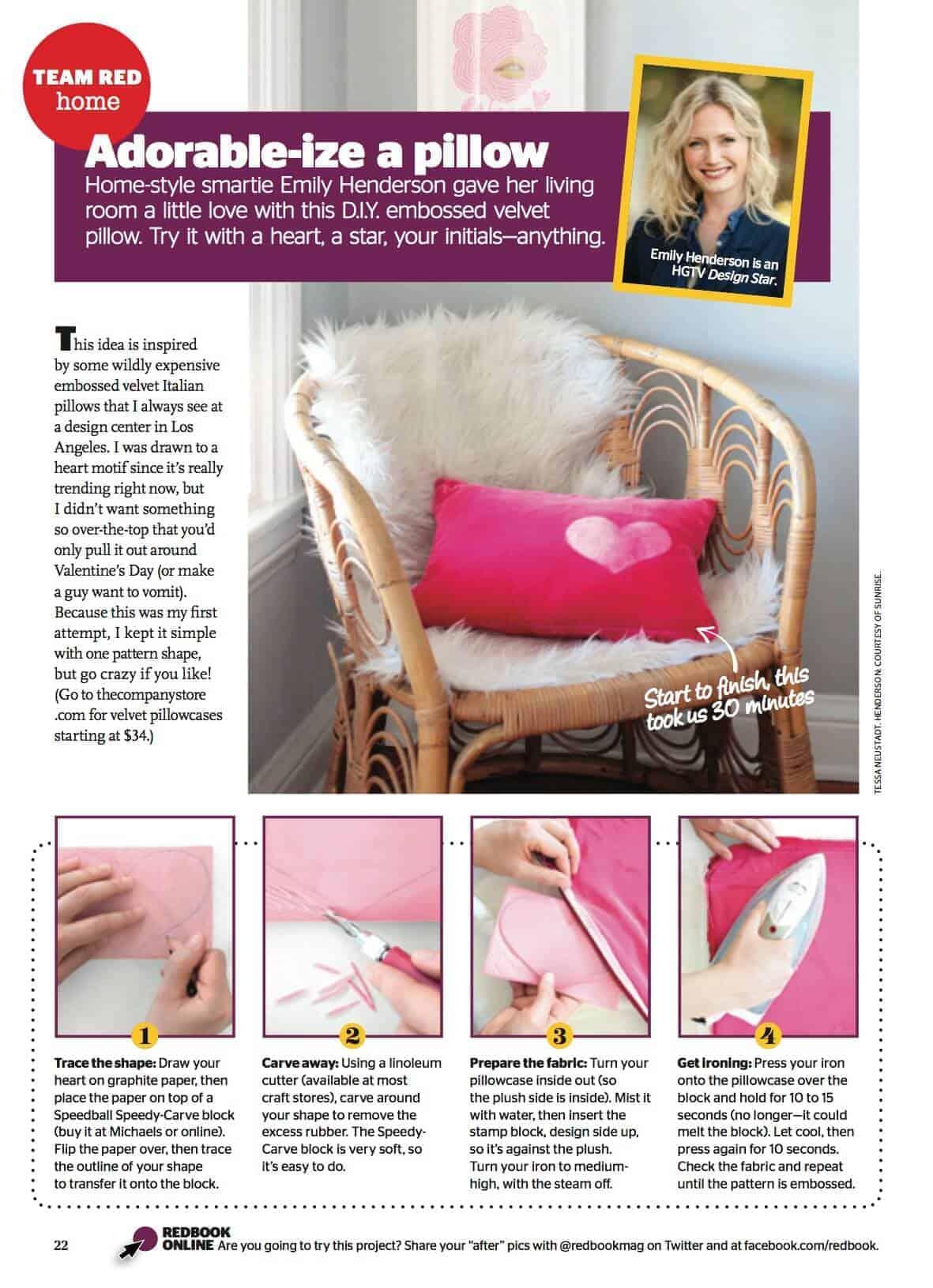 velvet heart pillow