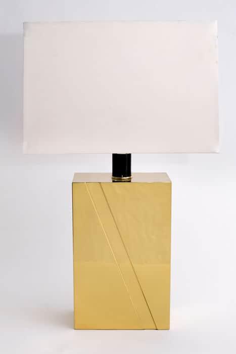gold rectangular lamp
