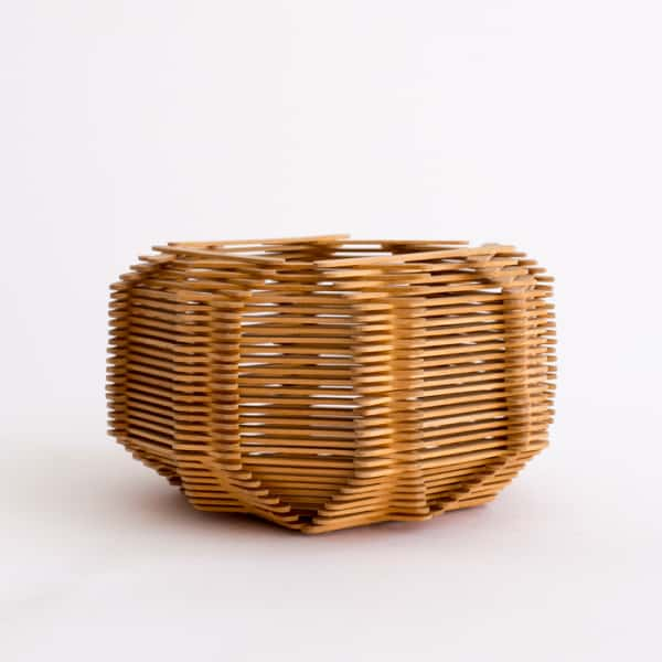 Wooden Folk Art Bowl
