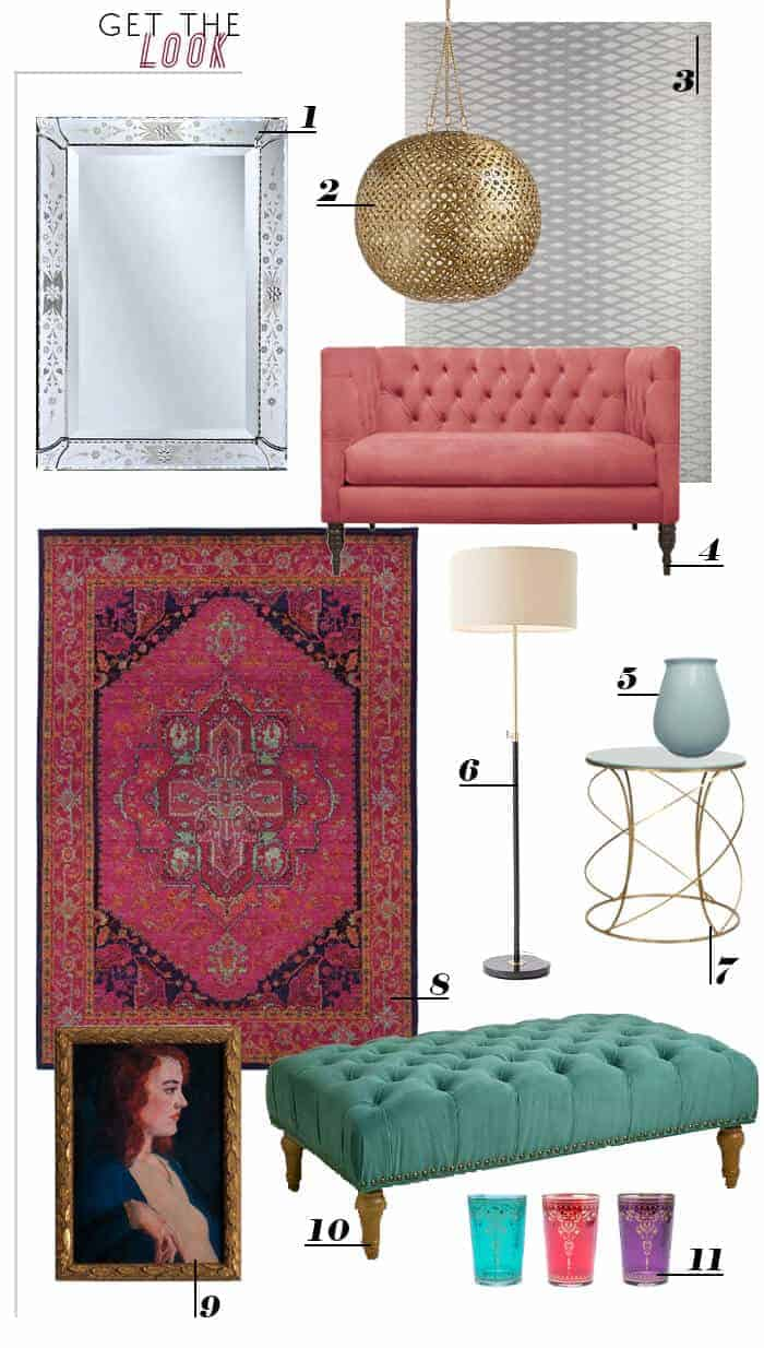 get the look_bridal suite_fig house_roundup_pink tufted couch_art deco