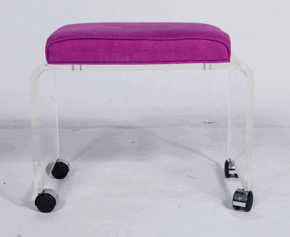 lucite bench vintage