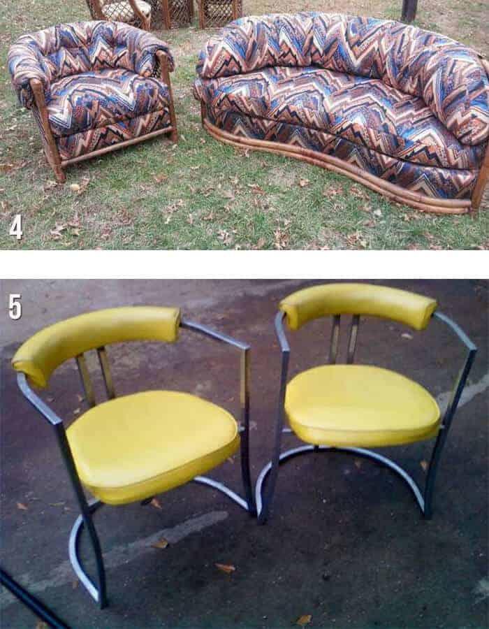 houston sofa and bright yellow chairs