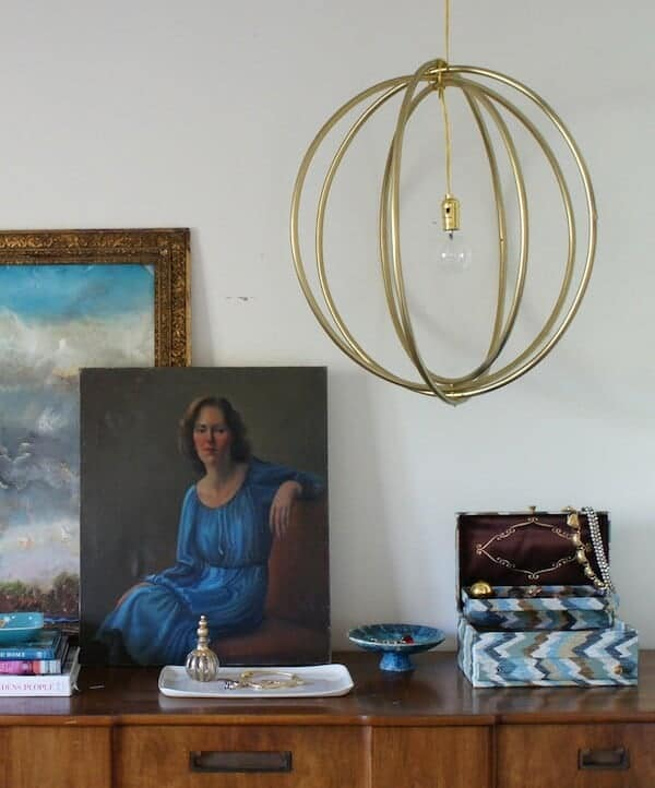 diy-hoola-hoop-light-fixture