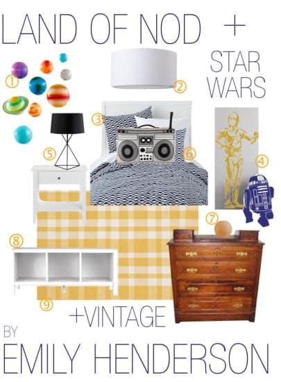 boys star wars bedroom