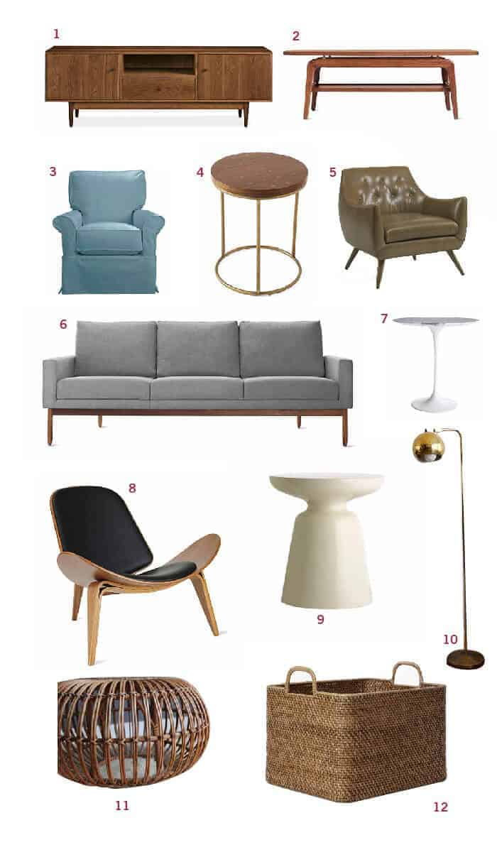 Cup of Jo Living Room Moodboard