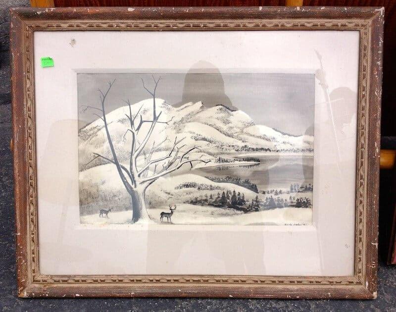 snow-painting
