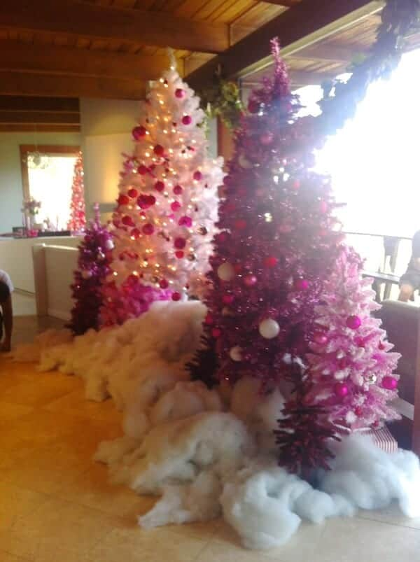 snow-hot-pink-christmas-trees