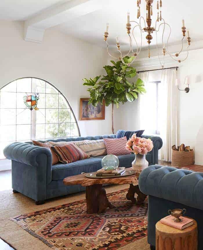 A Spanish Living Room Emily Henderson