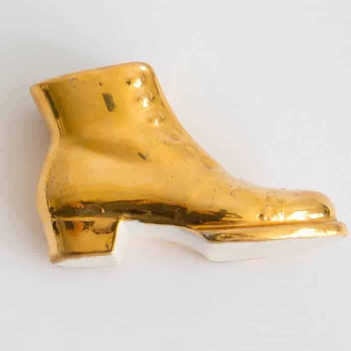 gold porcelain boot