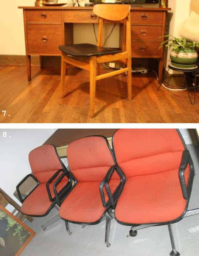 trolling craigslist portland set of rolling chairs and mcm chair