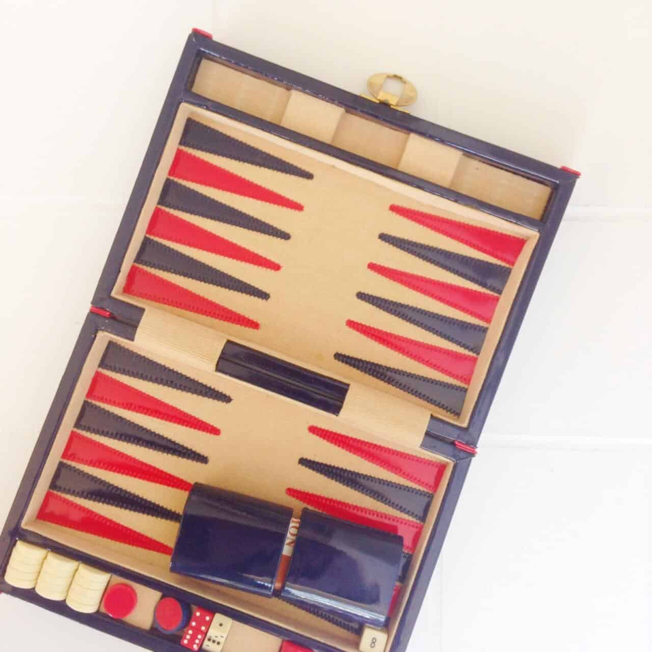vintage backgammon