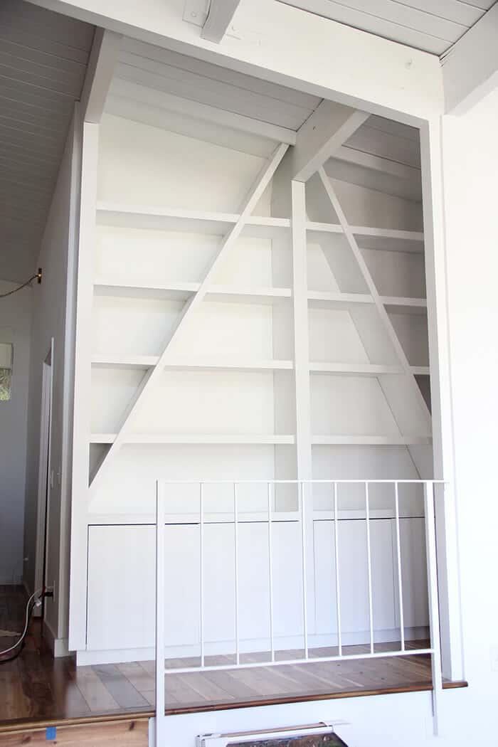 white bookshelf emily