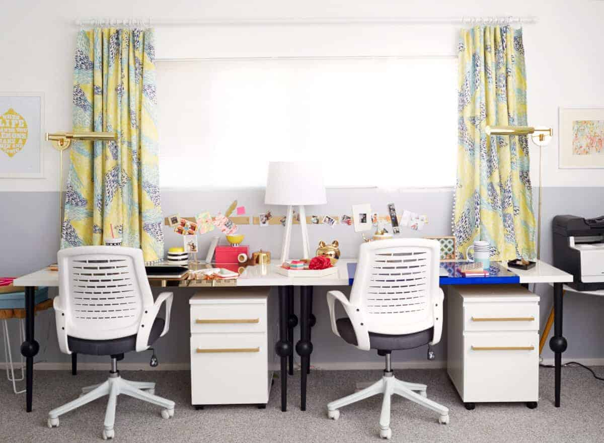 yellow and gray office